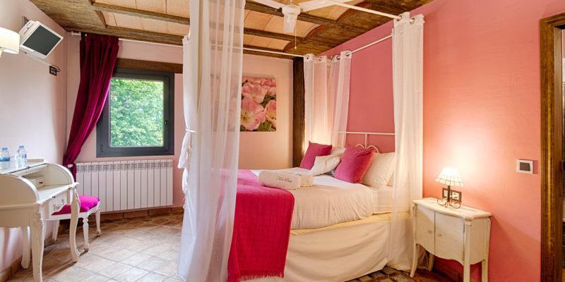 Habitación rosa Hotel Mas Prat