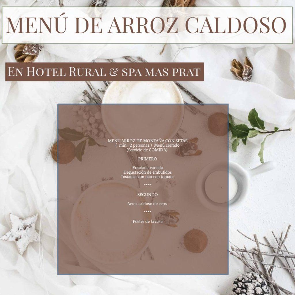 Menú de Arroz Caldoso - cocina de La Garrotxa
